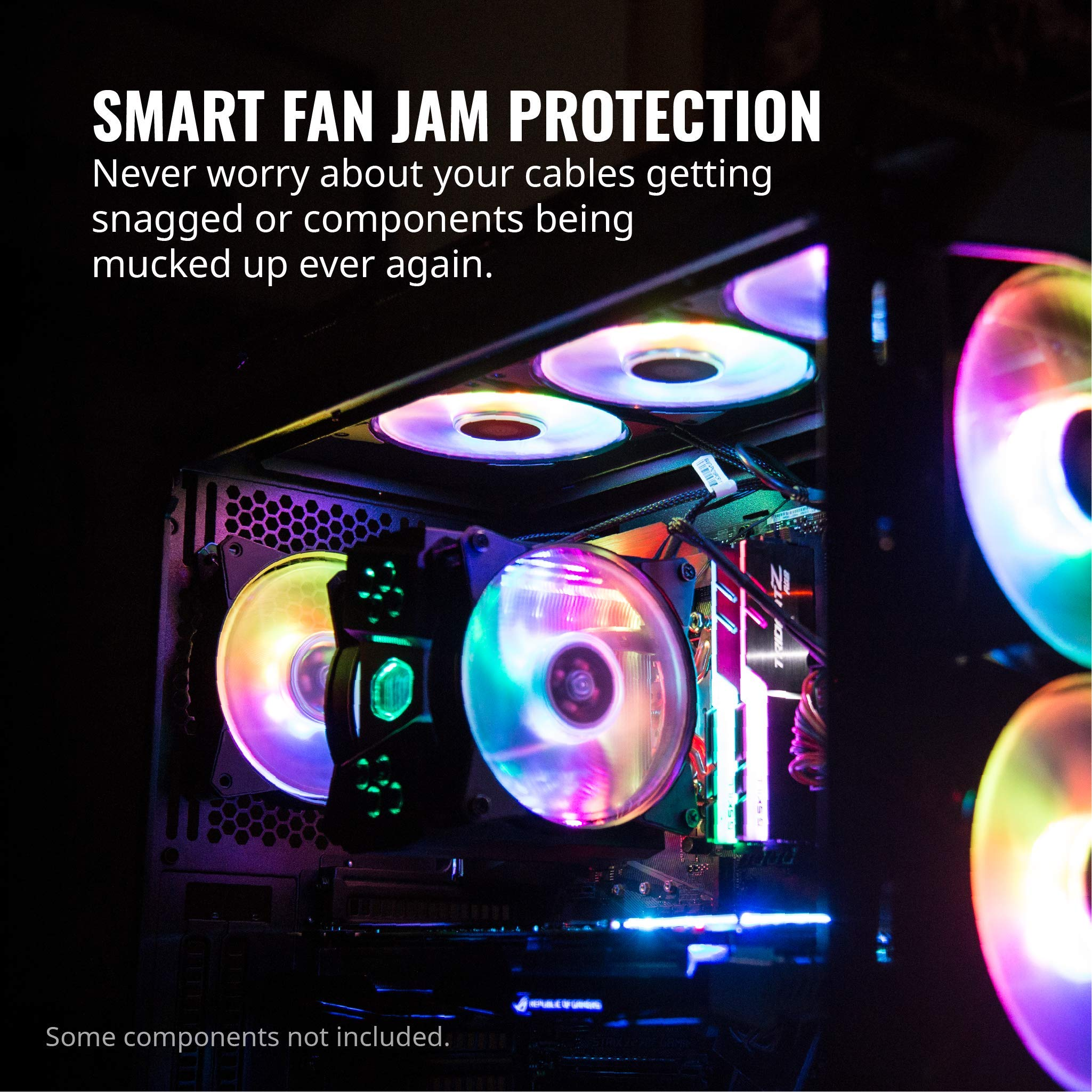 Cooler Master R4-120R-203C-R1 Master Fan MF120R- 120mm Air Balance Addressable ARGB 3in1 Case Fans Computer Cases CPU Coolers and Radiators by Cooler Master (Image #4)