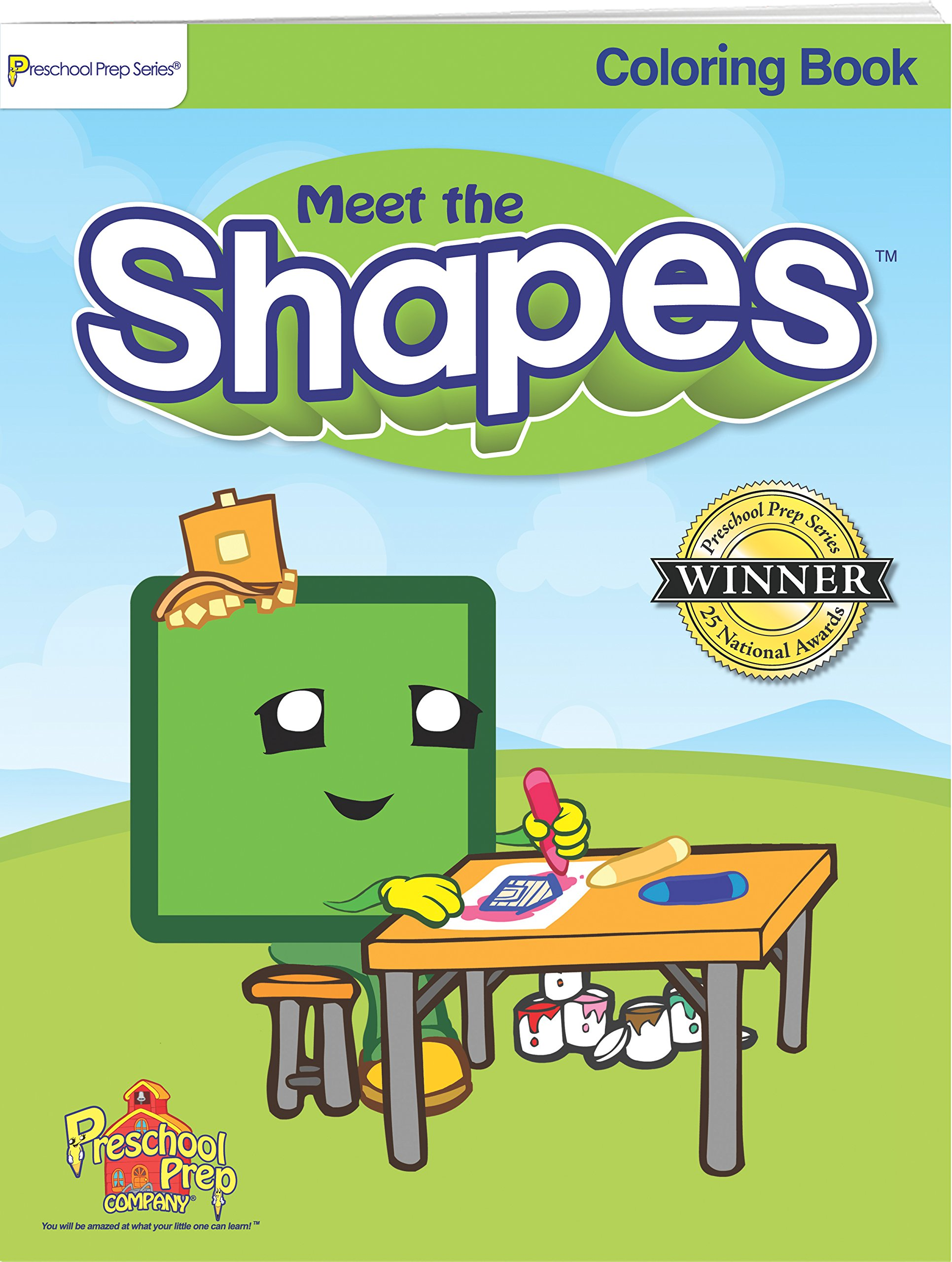 Meet the Shapes - Coloring Book: Kathy Oxley: 0184582000341: Amazon ...