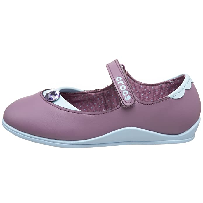 Amazon.com: Crocs Mackenzie de las niñas Mary Jane, Azul, 4 ...