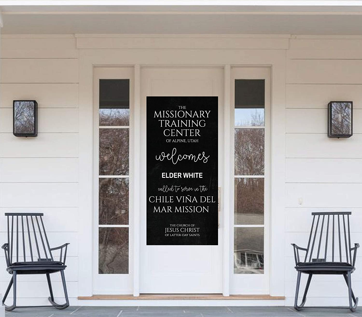 Welcome to the MTC Missionary Training Center Banner for Front Door - Latter Day Saint Mission Gift