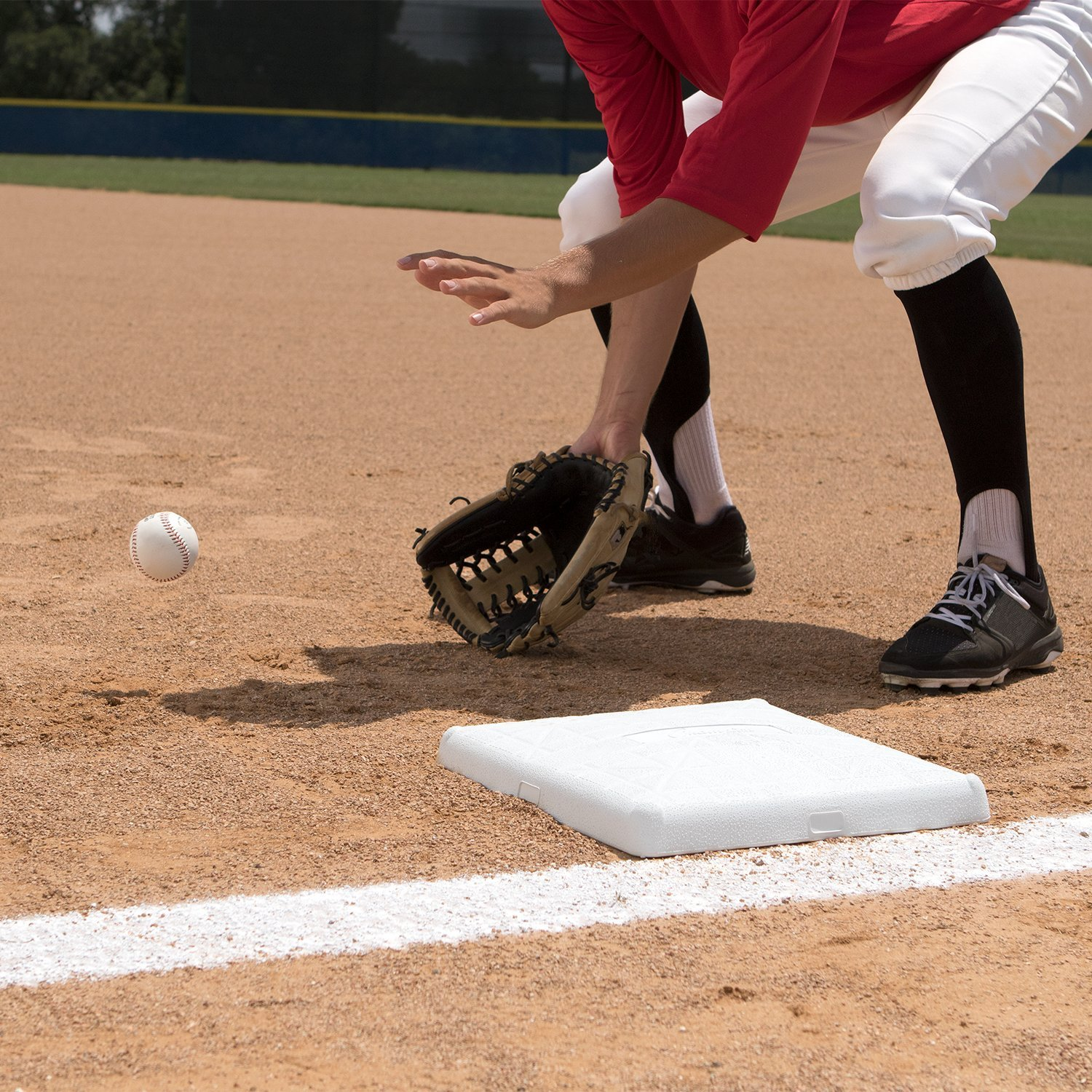 Champion Sports Impact Baseball Bases: Hollywood Type Safety Collapsible Bases with Anchor Plug - Sports Equipment Bags for Youth Baseball & Softball by Champion Sports (Image #6)