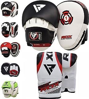 RDX Manoplas Boxeo y Guantes Curvas Paos Muay Thai MMA Artes Marciales Kick Boxing Focus Pads…