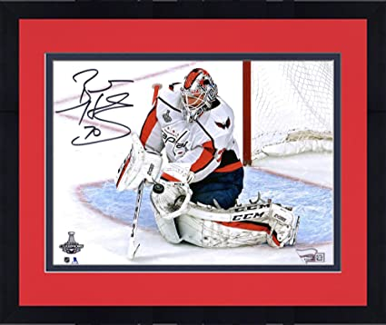 aad5b5608 Framed Braden Holtby Washington Capitals 2018 Stanley Cup Champions  Autographed 8 quot  x 10 quot  Stanley