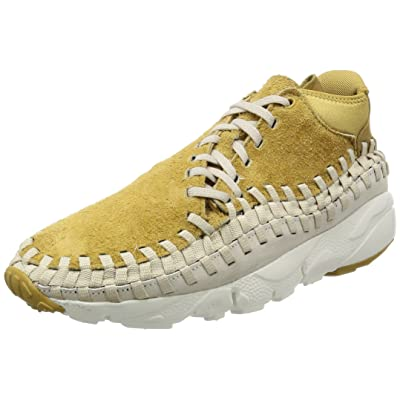 Nike Mens Footscape Woven Chukka QS Flat Gold/Orewood Fabric Size 12 | Athletic