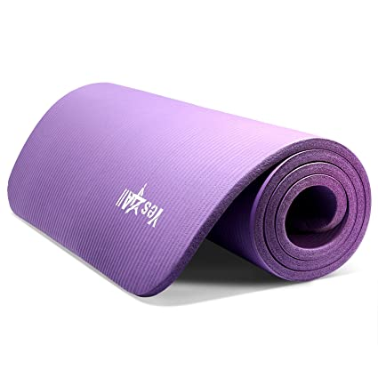 Yesall Thick Yoga Mat With Carrying Strap High Density Foam Yoga Mat