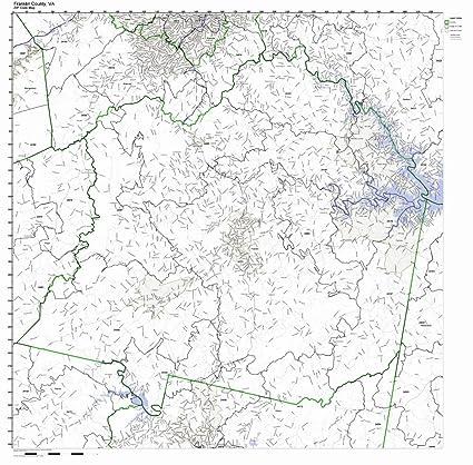 Amazon Com Franklin County Virginia Va Zip Code Map Not Laminated