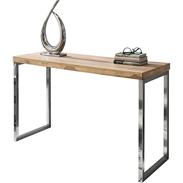 Wohnling exclusivo madera maciza 120 x 45 x 76 cm mesa consola de ...