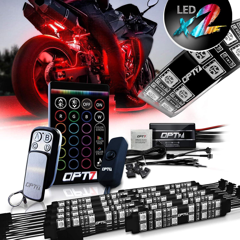 10 PC Harley Davidson Motorcycle Under Glow NEON LED Body Engine Frame Light Kit