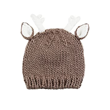 bcaee1643fc Image Unavailable. Image not available for. Color  Hartley Deer Hand Knit  Hat (Small 12-24 months ...