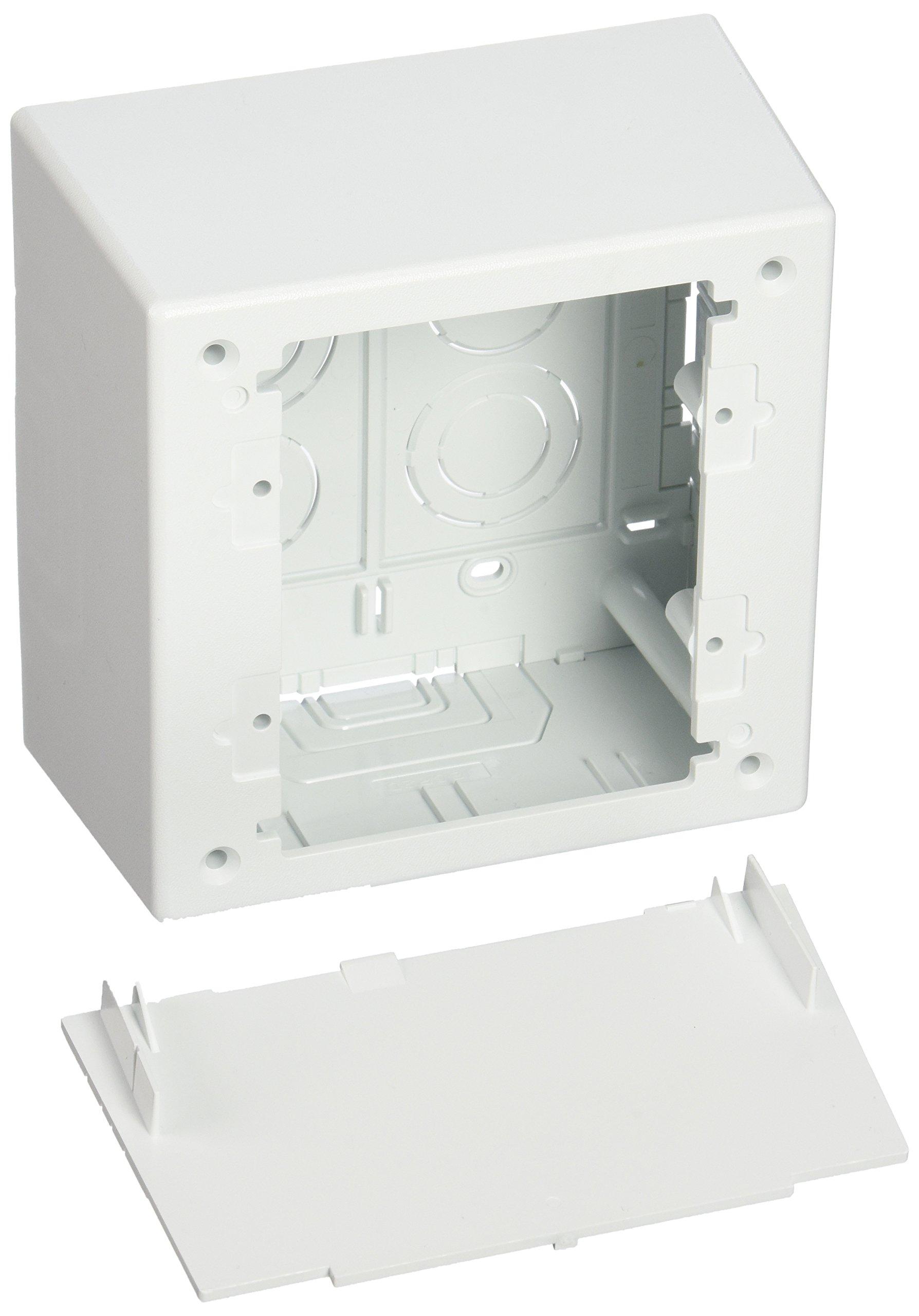 Panduit JBP2DWH 2-Gang Deep Outlet Box, White, 2-Piece
