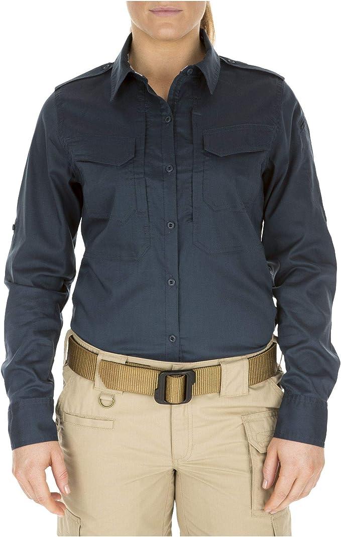 Teflon Finish Fabric 5.11 Tactical Womens Spit Fire Shooting Shirt Flex-Tac Canvas Style 62377