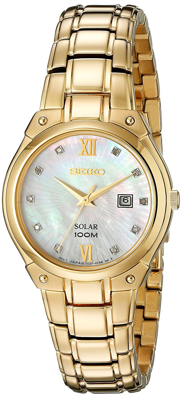 Seiko Women s SUT216 Analog Display Analog Quartz Gold Watch