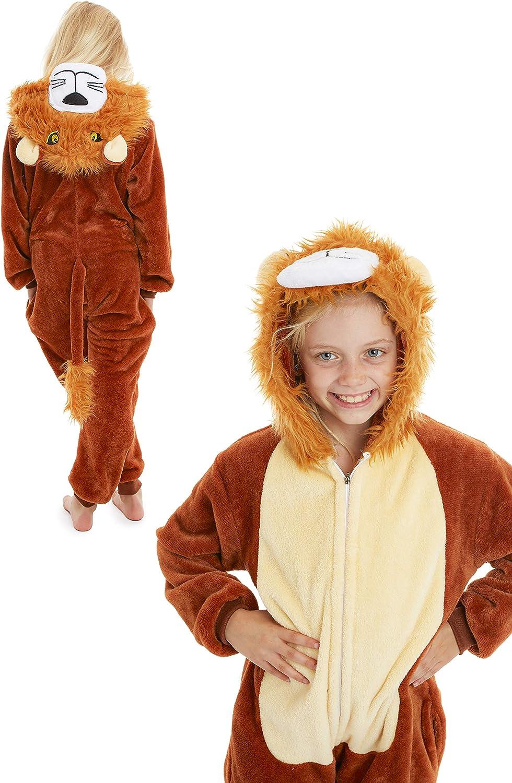 Pyjama Onesie Super Doux Confortable en Polaire CityComfort Combinaison Pyjama Enfant D/éguisement Animal Kigurumi Cosplay Licorne Chat Lion Singe