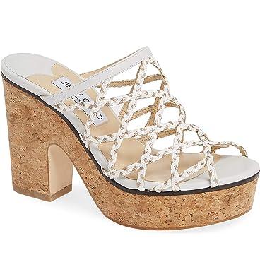 0bd76e06bb7bd Amazon.com | JIMMY CHOO Dalina Leather Cork Platform Mules Sandals ...