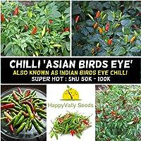 Chilli Asian Birds Eye Vegetable Garden Super HOT Indian 10+ Chili Seeds Pepper