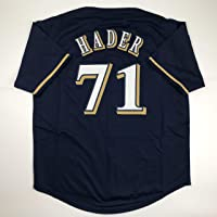 $49 » Unsigned Josh Hader Milwaukee Blue Custom Stitched Baseball Jersey Size Men's XL New No Brands/Logos