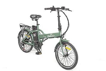 Moovway - Bicicleta eléctrica urbana Urban City, color caqui mate