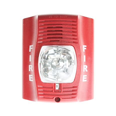 81r0nqmkjoL._SY463_ horn strobe, wall, 2 wire, std candela, red fire alarm amazon com simplex horn strobe wiring diagram at creativeand.co