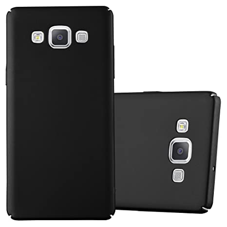 8b37b58d8e0c24 Cadorabo Coque pour Samsung Galaxy A5 2015 en Metallic Noir – Housse  Protection Rigide en Plastique