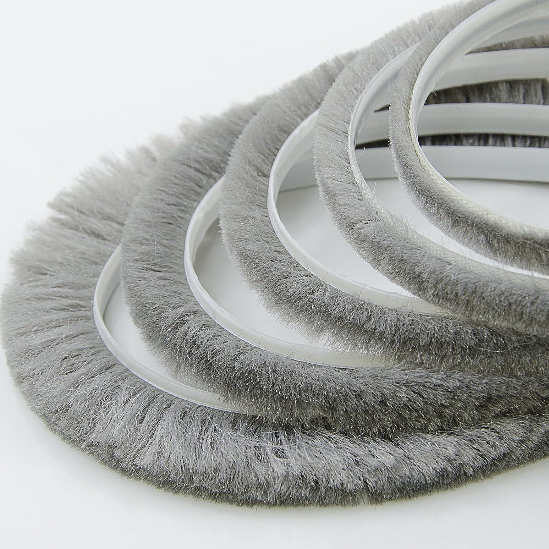 1m Bande de brosse gris 6.9x6mm auto-adhesif DQ-PP