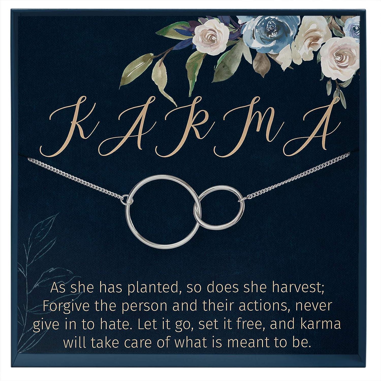 Muse Infinite Gold Circles Necklace Eternity Necklace Karma Necklace Karma Quote Meaningful Necklace Yoga Meditation