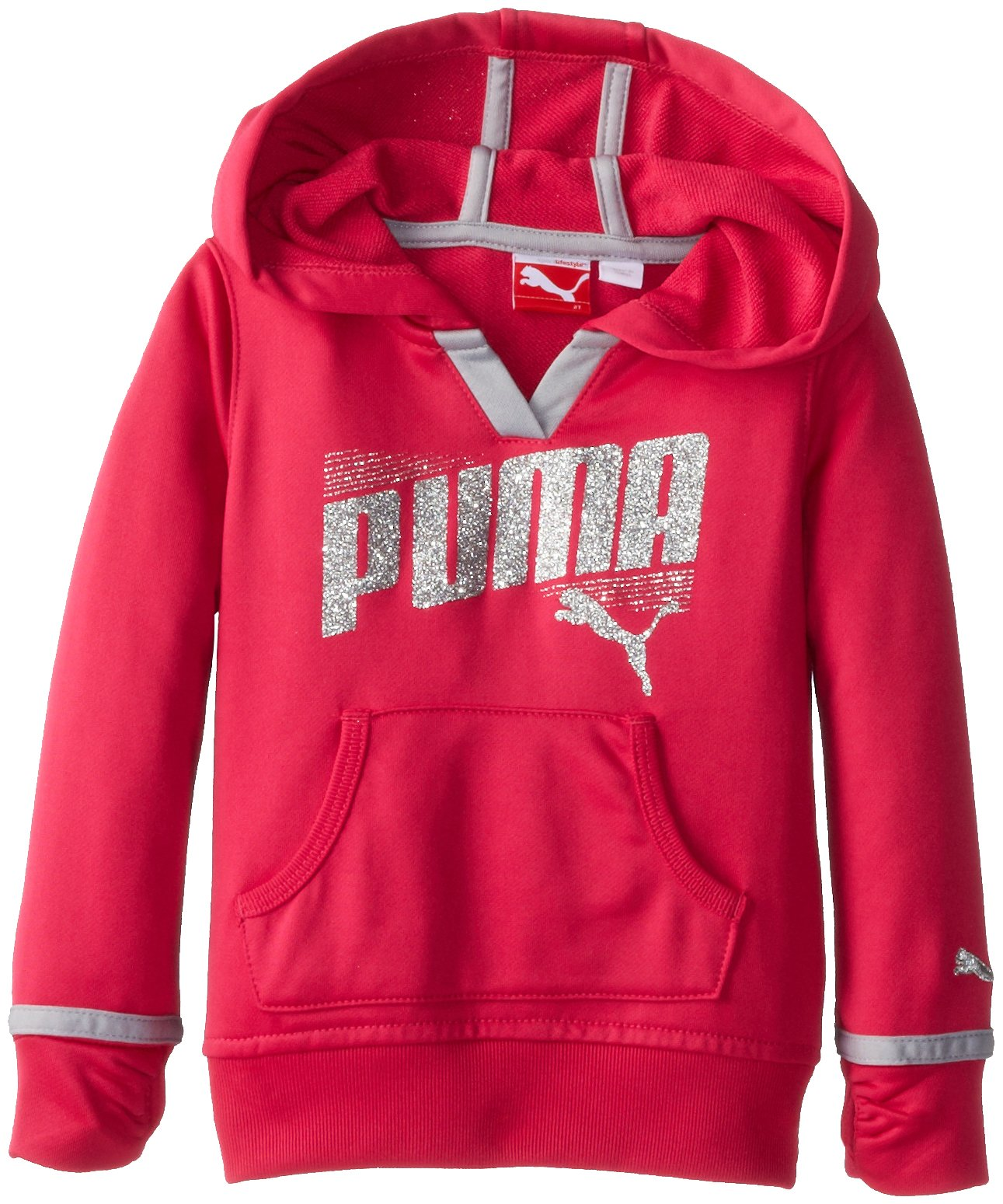 PUMA Little Girls' Active Pullover,Beet Root Purple,5 by PUMA (Image #1)