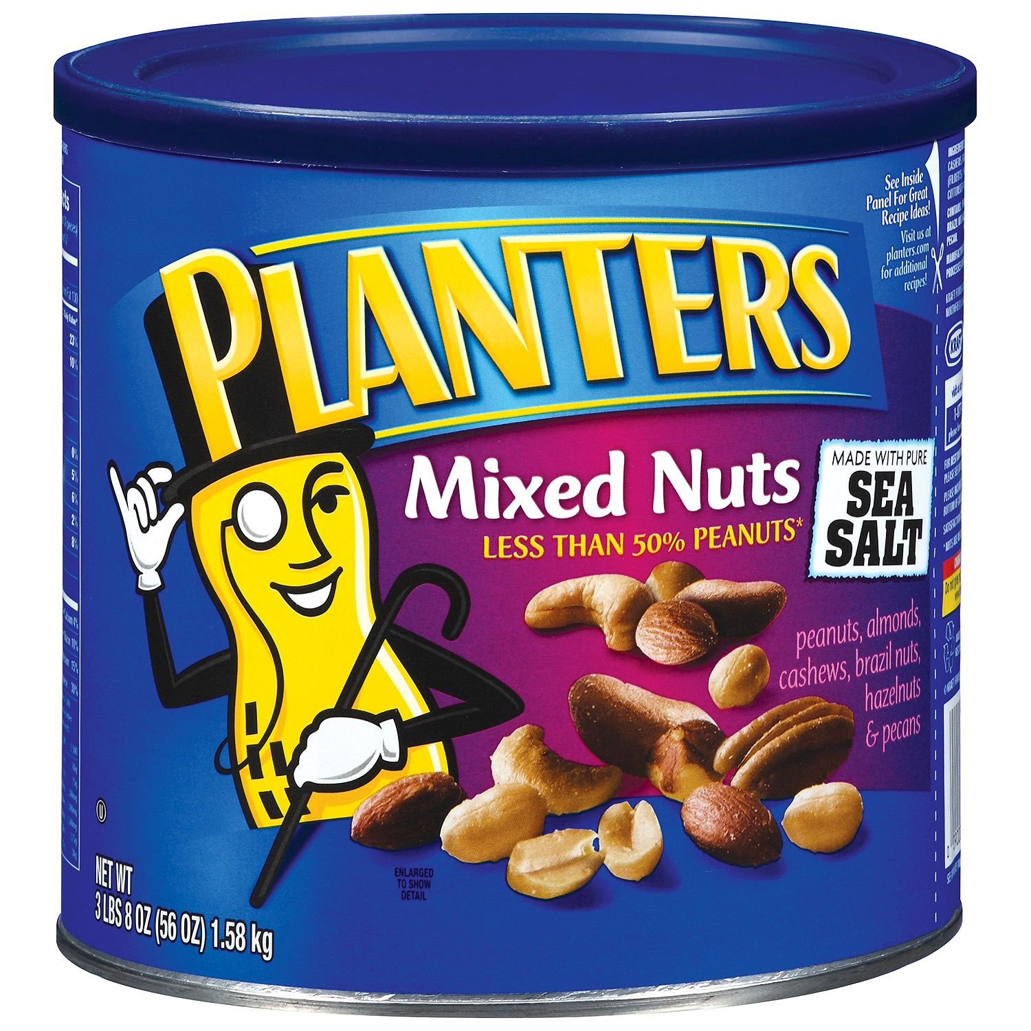 Planters Mixed Nuts with Sea Salt (56 oz.) (pack of 6)