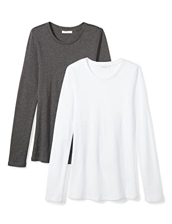 b1dbb55441e8 Amazon Brand - Daily Ritual Women's Midweight 100% Supima Cotton Rib Knit  Long-Sleeve. Roll over image to ...