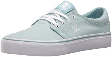 DC Women's Trase TX Skate Shoe, Light Blue, ...