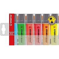 Surligneur - STABILO BOSS ORIGINAL - Pochette de 6 surligneurs - Coloris assortis