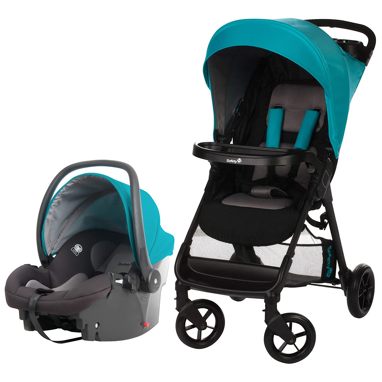 Safety 1st Smooth Ride Travel System with onBoard 35 Infant Car Seat, Lake Blue TR378EEJ