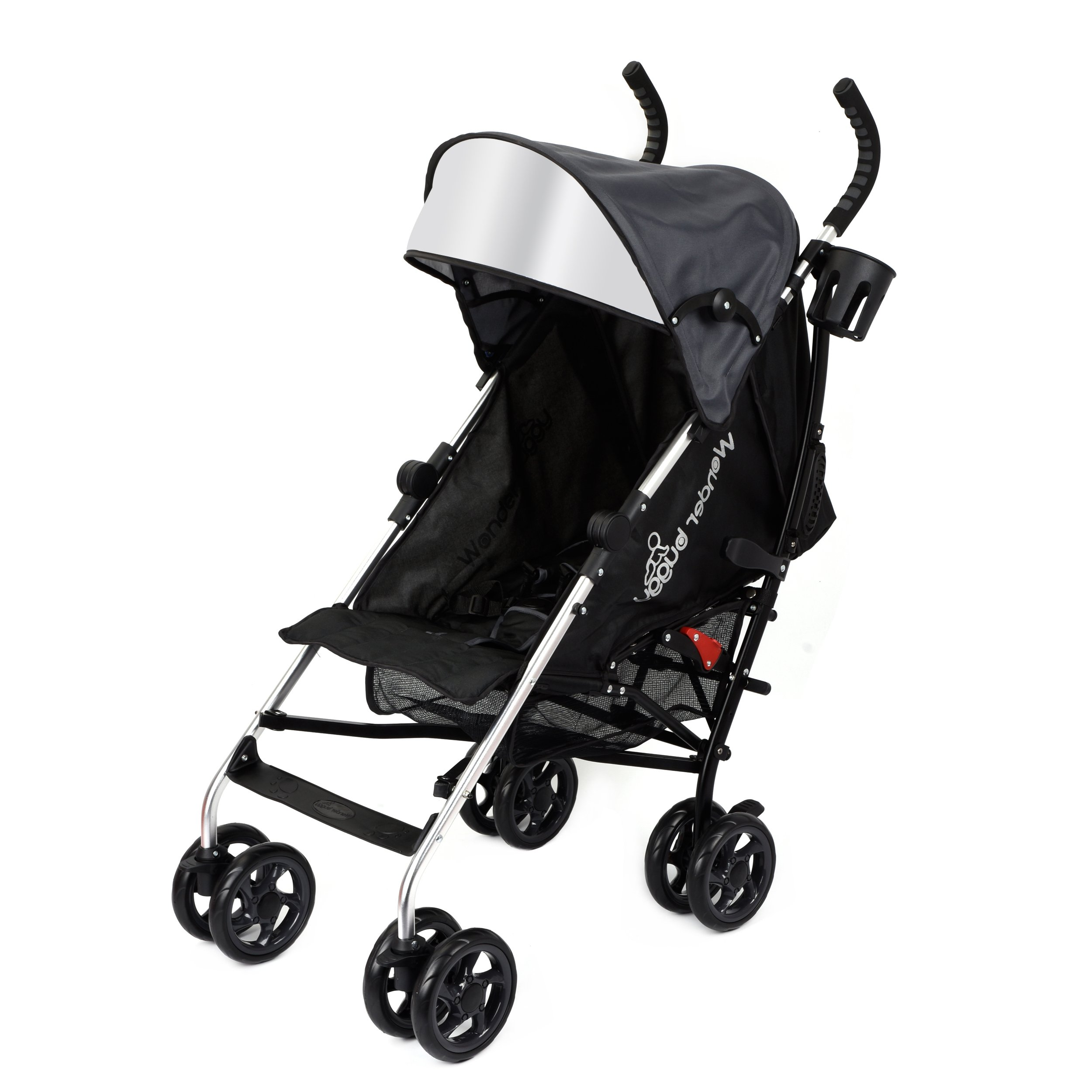 Wonder Buggy Baby Stroller Lightweight All Town Rider Four Position Stroller with Sun Visor, Black