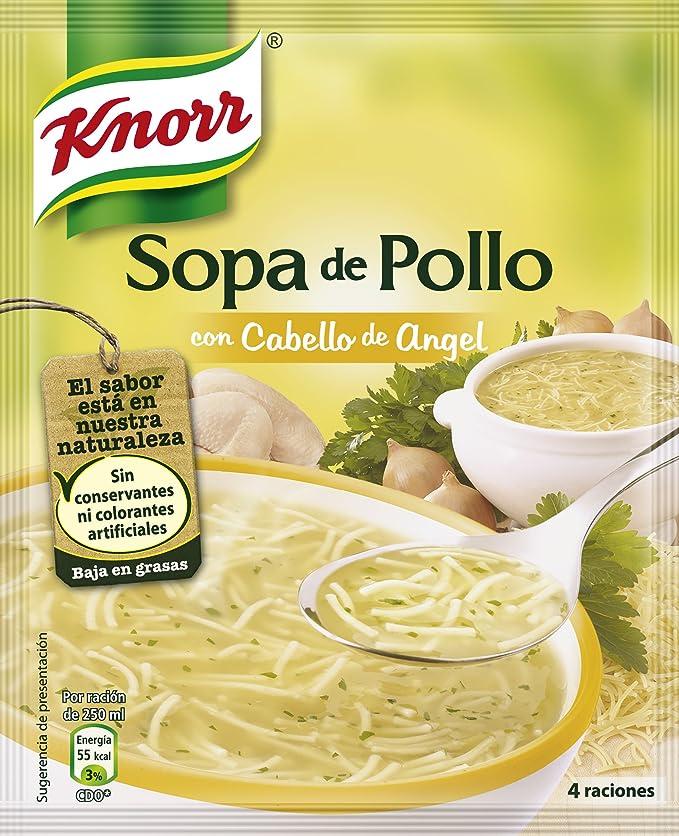 Knorr Sopa De Pollo Con Cabello De Angel, Sopa Deshidratada - 71 g: Amazon.es: Amazon Pantry
