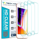 Tech Armor HD Clear Film Screen Protector (Not Glass) for Apple iPhone 7 Plus, iPhone 8 Plus (5.5-inch) [3-Pack]
