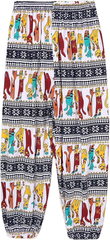 Freebily Enfant Filles Yoga Pantalons Boh/émien Plage Pantalons Sarouel Casual Pants Baggy Harem D/écontract/é Pantalons Trousers Jogging Elastique 3-12 Ans