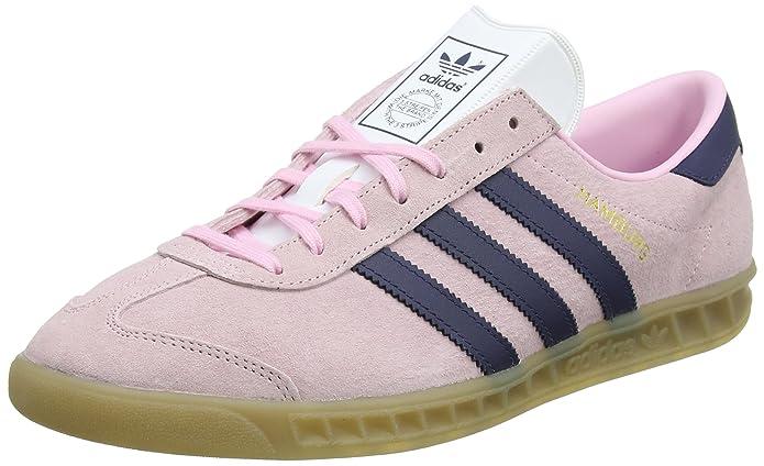 Adidas Hamburg Sneaker Damen Weiß mit blauen Streifen