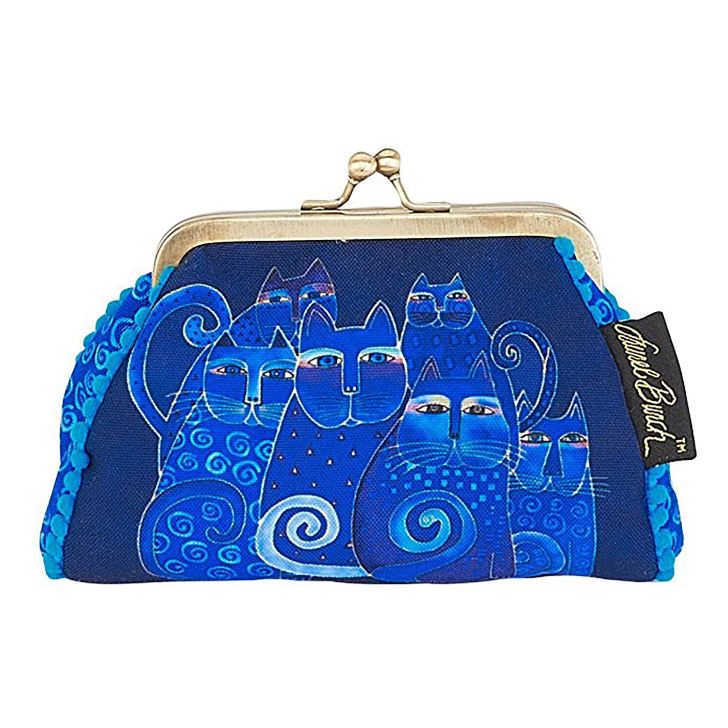 Laurel Burch Coin Purse Indigo Cats