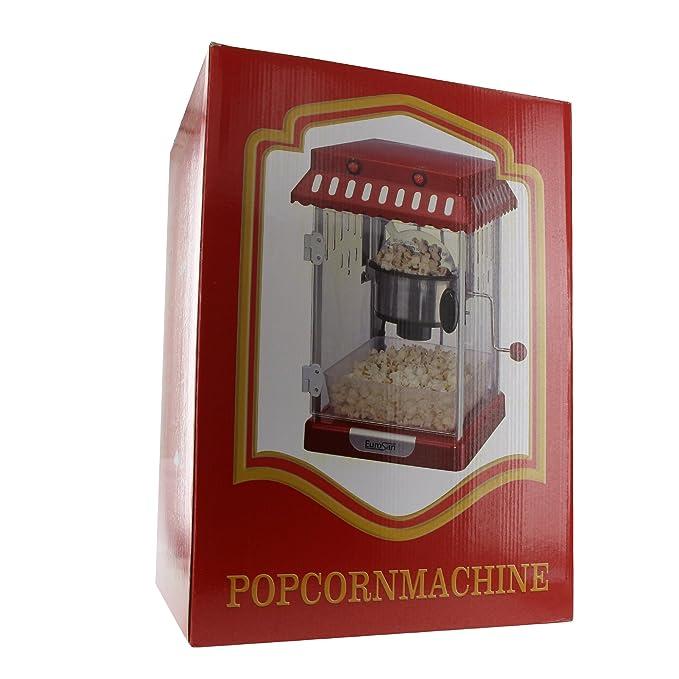 eurosan pr Palomitero, diseño retro, aire caliente, caja de regalo, color rojo y blanco: Amazon.es: Hogar