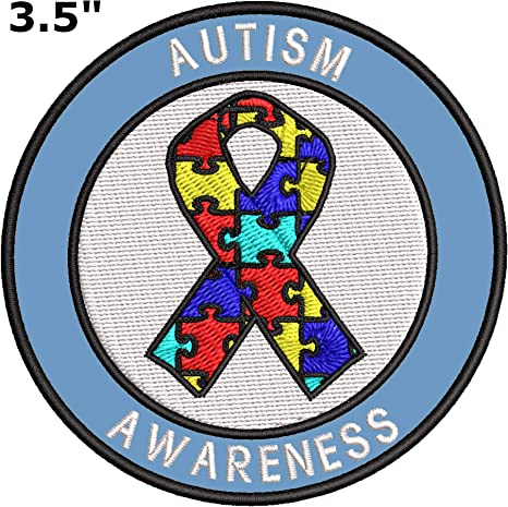Autism Awareness Embroidered Iron On Patch 3.5 x 3.5 Gifts Fundraising April 2 2021