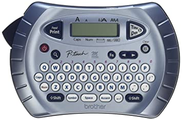 e9af0f85273b Brother P-touch Label Maker, Personal Handheld Labeler, PT70BM, Prints 1  Font in 6 Sizes & 9 Type Styles, Two-Line Printing, Silver