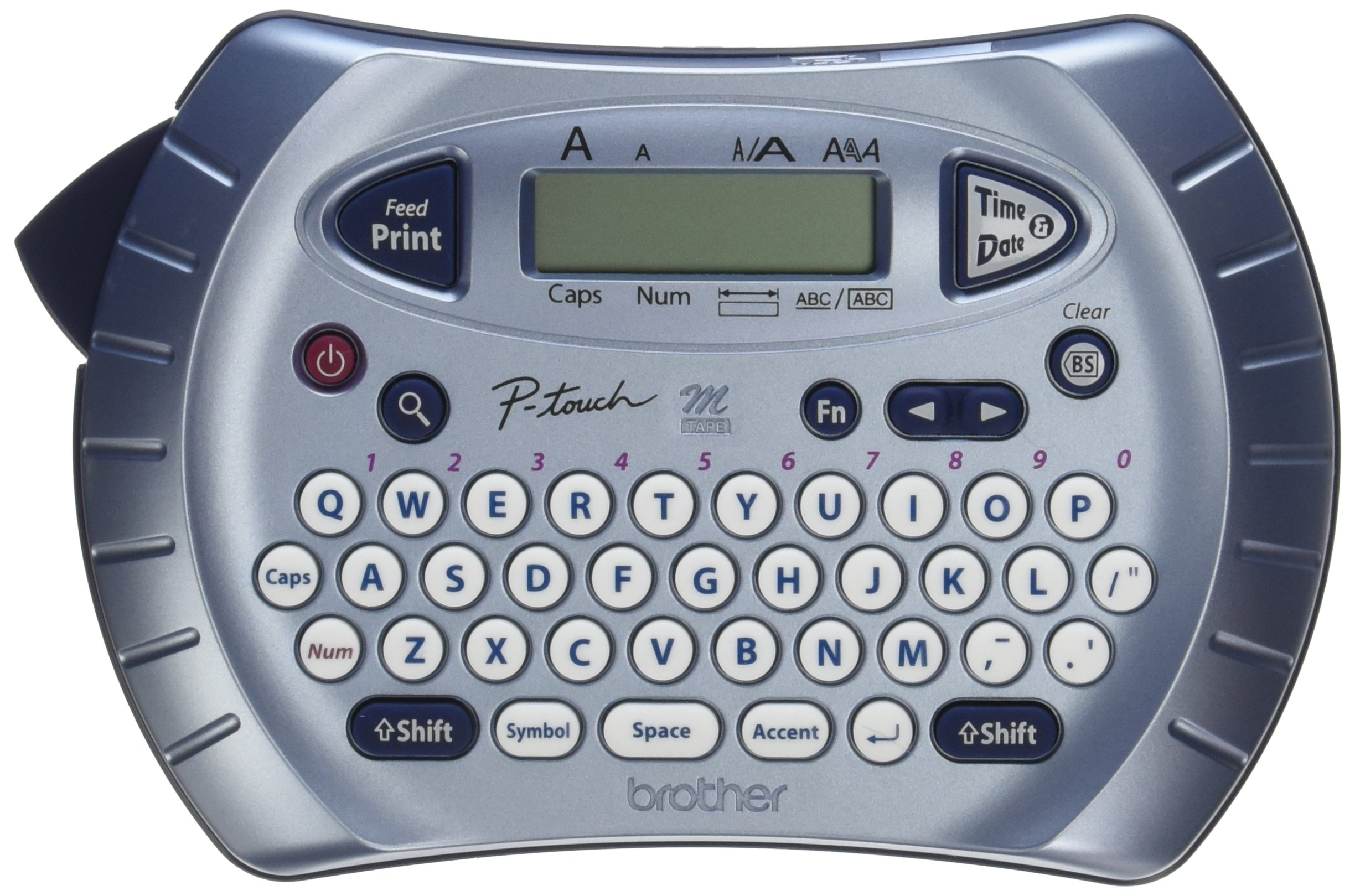 Brother P-touch Label Maker, Personal Handheld Labeler, PT70BM, Prints 1 Font in 6 Sizes & 9 Type Styles, Two-Line Printing by Brother