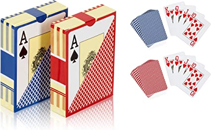 Easy ... Two Decks of Poker Cards Bullets Playing Cards Waterproof Plastic
