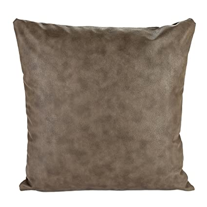 Surprising Snugtown Thick Faux Leather Pillow Cover Tan Decorative For Couch Throw Pillow Case Brown Leather Cushion Cover Leather Pillow 18X18 Inches Taupe Pabps2019 Chair Design Images Pabps2019Com