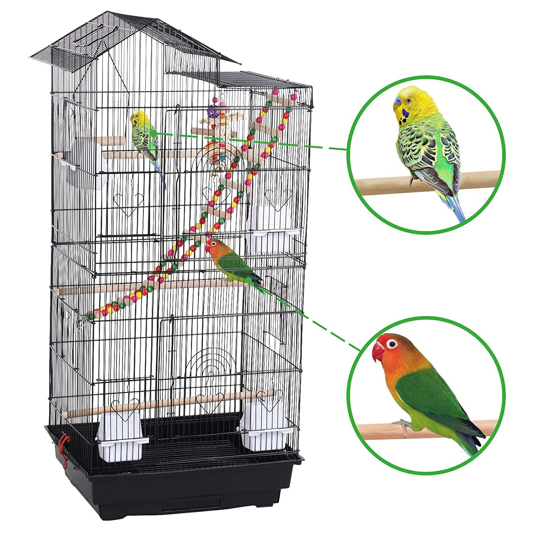 Yaheetech Jaula para Pájaros Jaula Grande con Columpio: Amazon.es ...