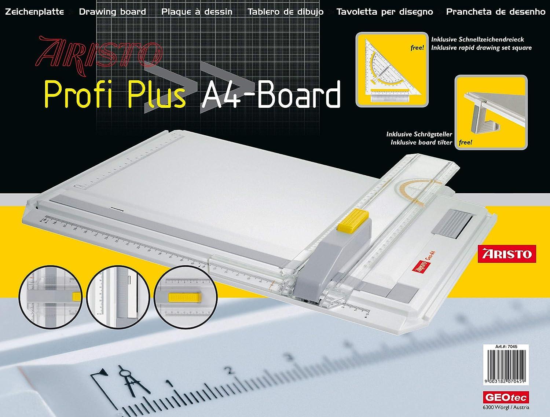 Aristo Geo-Board Tablero de dibujo A4 de pl/ástico resistente color blanco