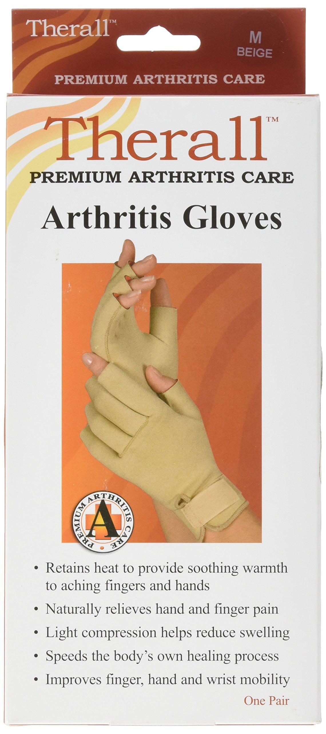 Therall Arthritis Gloves, Beige, Medium