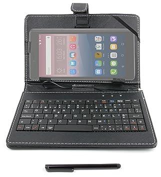 """DURAGADGET Funda/Teclado ESPAÑOL Negro 7"""" para Tablet Alcatel PIXI 3 (8)"""