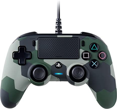 NACON Controller Wired Camo Green PS4 [Importación italiana]: Amazon.es: Videojuegos