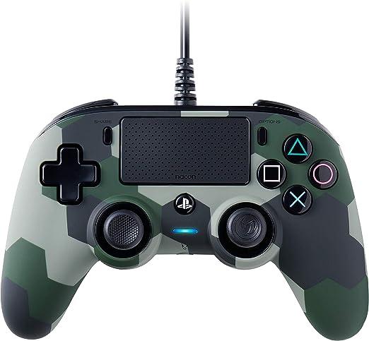 NACON Controller Wired Camo Green PS4 [Importación italiana]