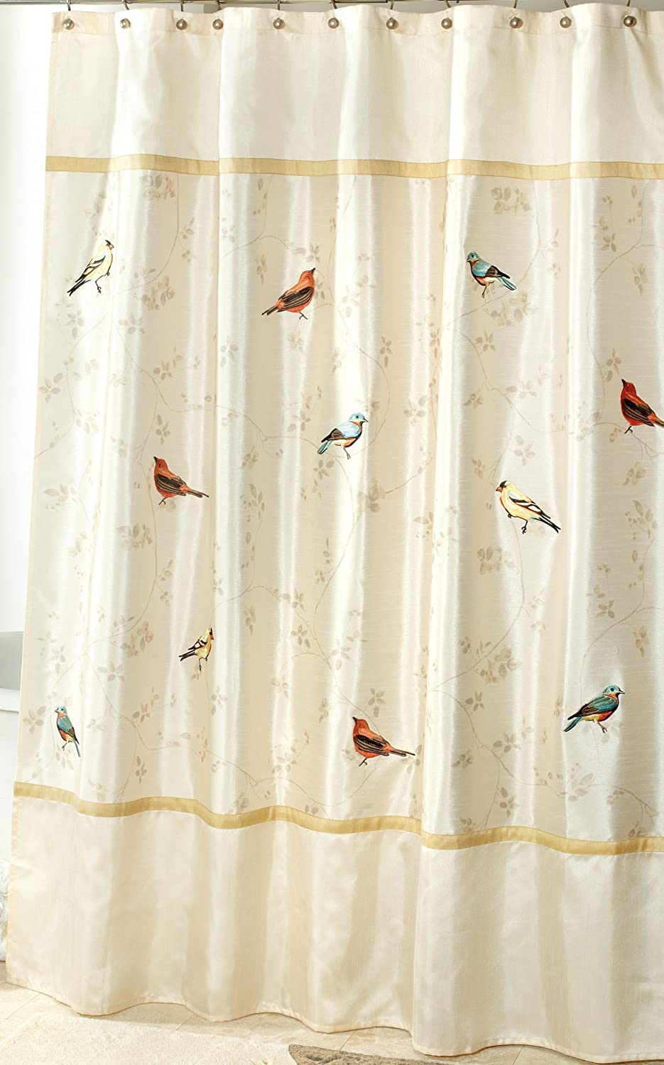 curtain fabric s pink altmeyer shower gray flamingo bedbathhome in curtains bird interdesign and